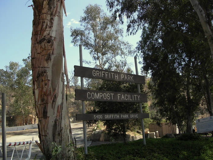 Griffith Park Composting Facility entrance sign