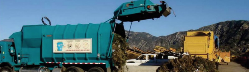 Recycling Truck Unloading Image