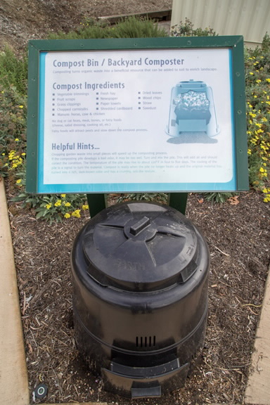 Compost Bin and Compost Instructions Display