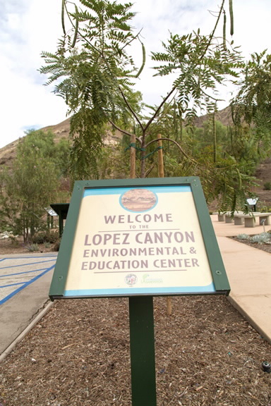 Welcome sign to Lopez Canyon Environmental & Education Center