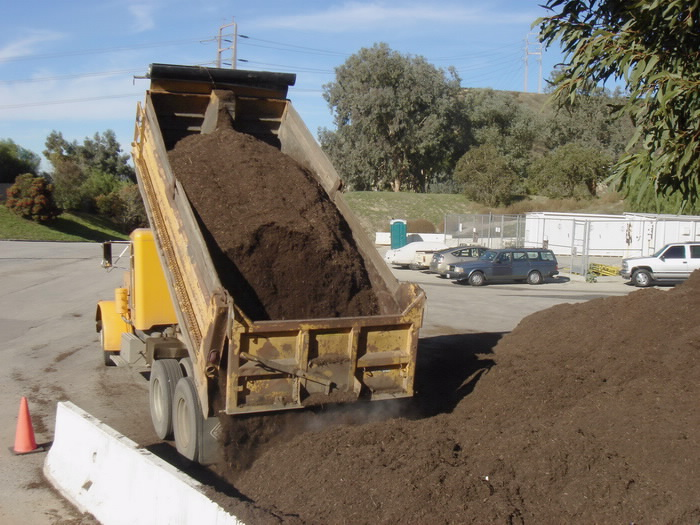 These trucks later deliver the mulch to any of our 11 mulch give-away sites.