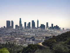 Downtown LA Skyline for Climate Change page 240x180