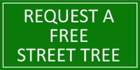 Request a free street tree button - english