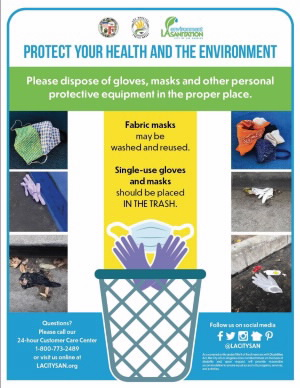 Glove and mask disposal - English JPG 300px