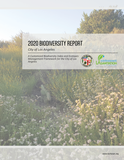 2020 Los Angeles Biodiversity Report Cover